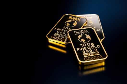 three gold bars